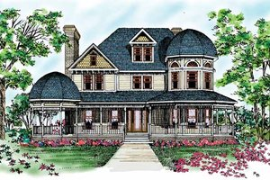 Home Plan - Victorian Exterior - Front Elevation Plan #72-894