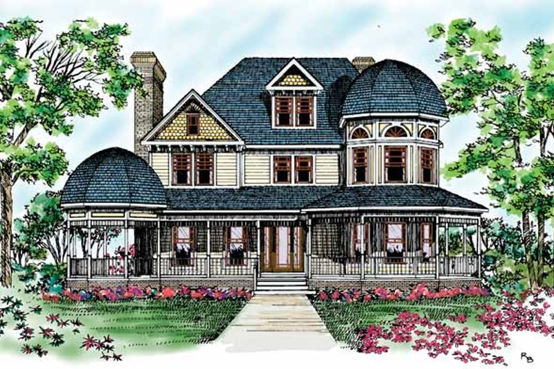 Victorian Exterior - Front Elevation Plan #72-894 - Houseplans.com