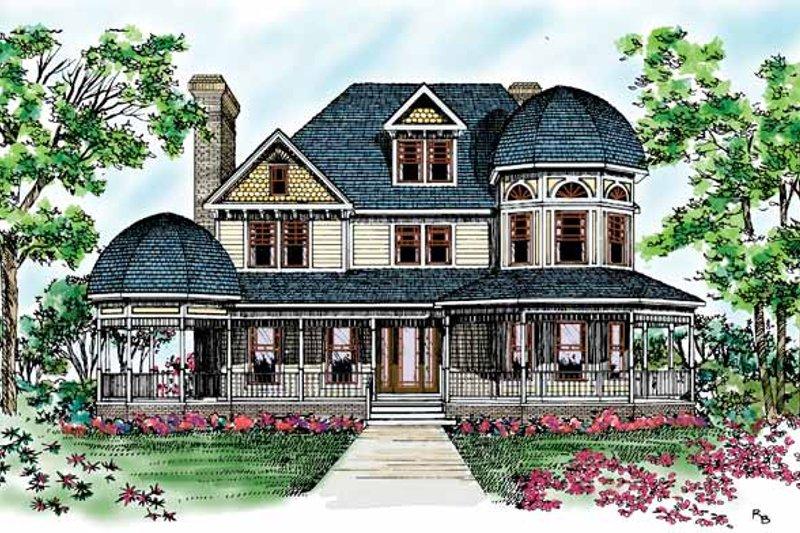Dream House Plan - Victorian Exterior - Front Elevation Plan #72-894