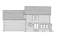 Colonial Exterior - Rear Elevation Plan #1010-14