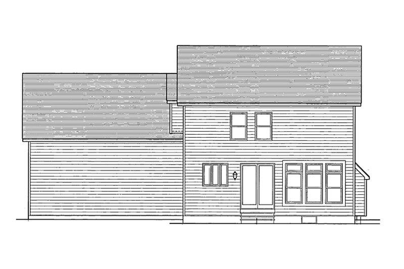 Colonial Exterior - Rear Elevation Plan #1010-14 - Houseplans.com
