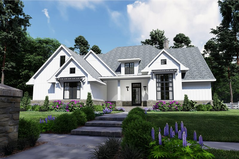 Dream House Plan - Farmhouse Exterior - Front Elevation Plan #120-259