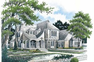 Country Exterior - Front Elevation Plan #429-273