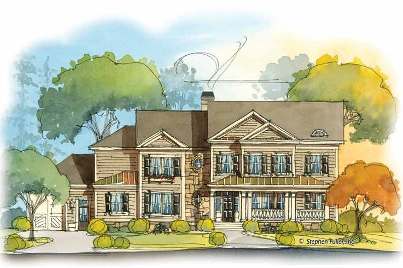 Country Exterior - Front Elevation Plan #429-413