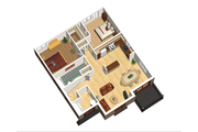 European Style House Plan - 6 Beds 3 Baths 3369 Sq/Ft Plan #25-4355 Floor Plan - Upper Floor Plan