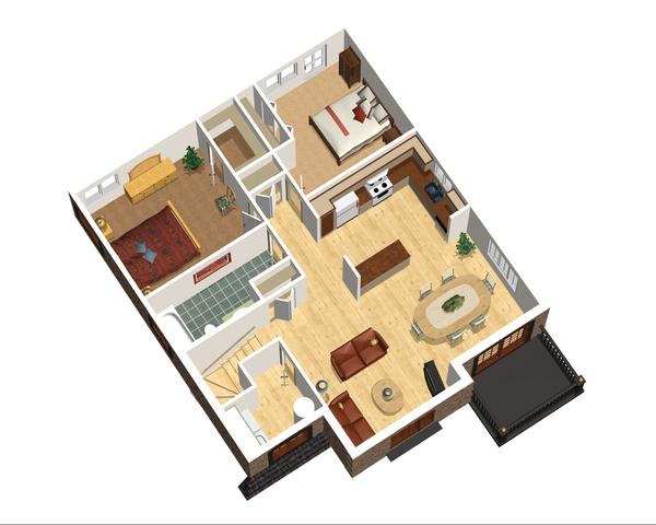 European Floor Plan - Upper Floor Plan Plan #25-4355