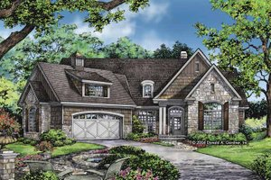 Craftsman Exterior - Front Elevation Plan #929-827