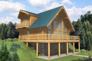 Home Plan - Log Exterior - Front Elevation Plan #117-412