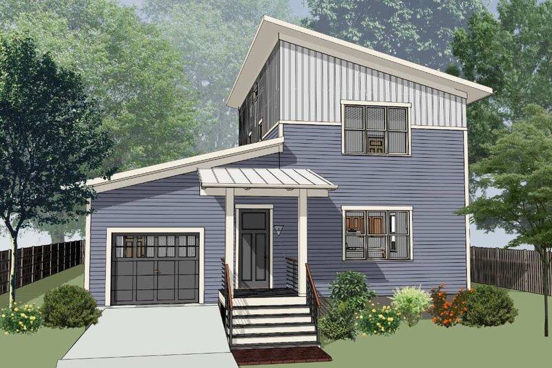 House Plan Design - Modern Exterior - Front Elevation Plan #79-320