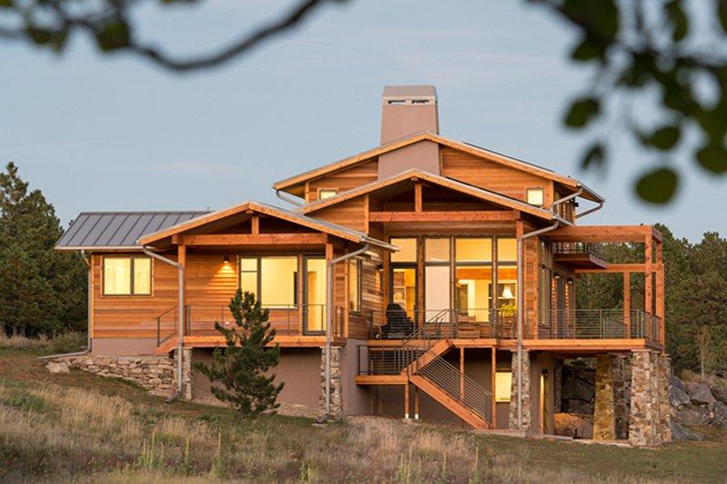 Prairie Exterior - Rear Elevation Plan #1042-17 - Houseplans.com
