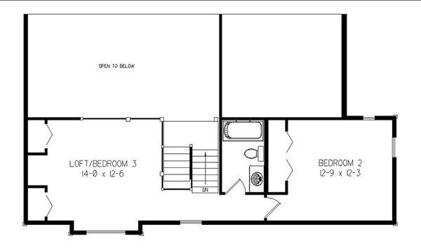 Log Floor Plan - Upper Floor Plan Plan #964-11