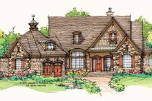 European Exterior - Front Elevation Plan #929-901