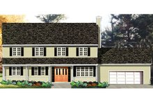 Colonial Exterior - Front Elevation Plan #3-156