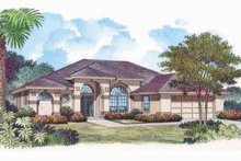 House Plan Design - Mediterranean Exterior - Front Elevation Plan #417-768
