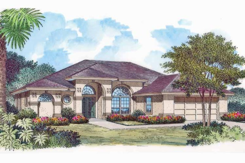 Mediterranean Exterior - Front Elevation Plan #417-768 - Houseplans.com