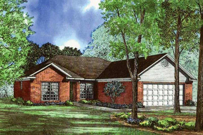Ranch Exterior - Front Elevation Plan #17-3261