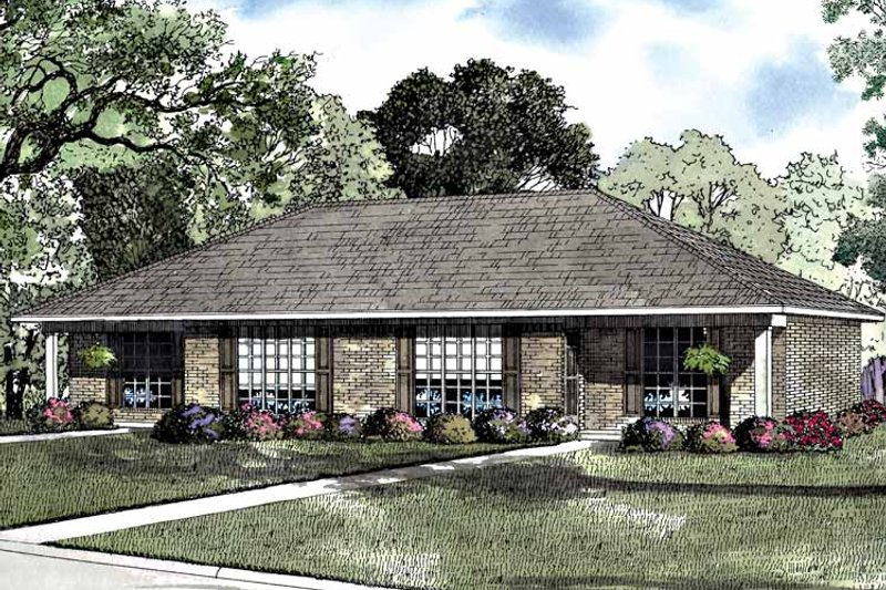 Ranch Exterior - Front Elevation Plan #17-3249