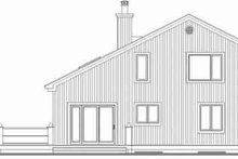 Architectural House Design - Contemporary Exterior - Rear Elevation Plan #23-2037