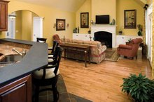 Dream House Plan - Country Interior - Family Room Plan #929-425