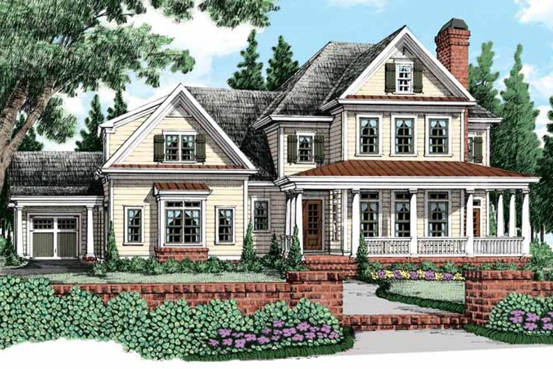 Traditional Exterior - Front Elevation Plan #927-480 - Houseplans.com