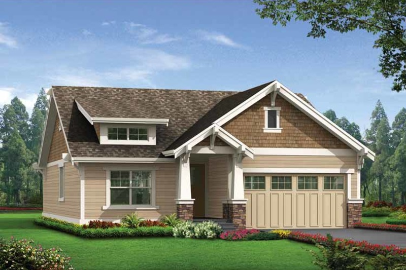 Craftsman Exterior - Front Elevation Plan #132-529 - Houseplans.com