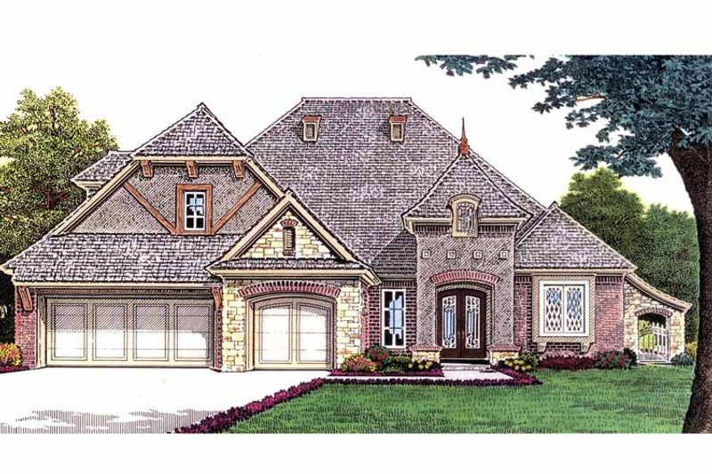 Country Exterior - Front Elevation Plan #310-1235 - Houseplans.com