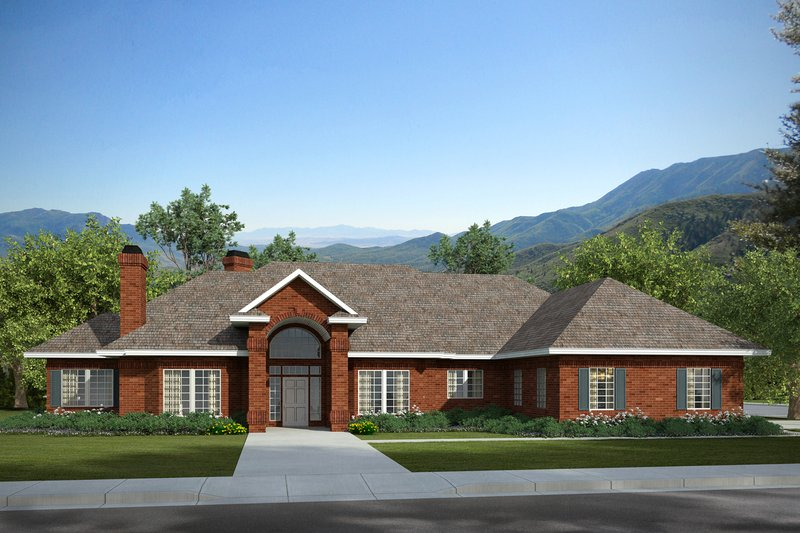 Traditional Exterior - Front Elevation Plan #124-258 - Houseplans.com