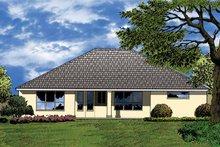 Architectural House Design - Mediterranean Exterior - Rear Elevation Plan #1015-14