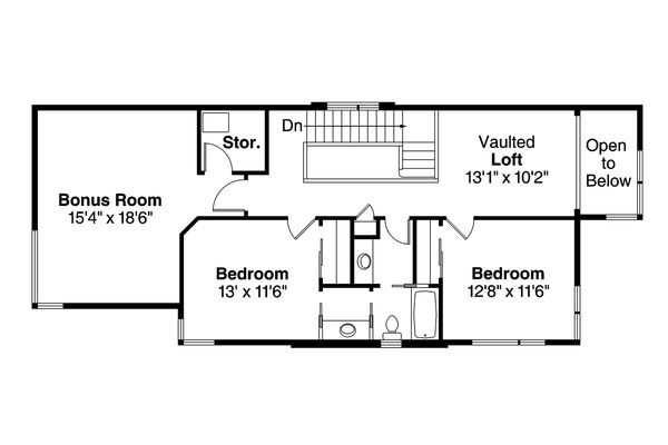 Floor Plan - Upper Floor Plan Plan #124-954