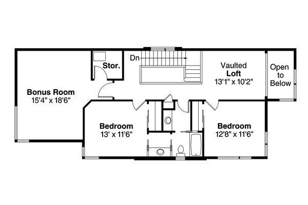 House Plan Design - Floor Plan - Upper Floor Plan #124-954