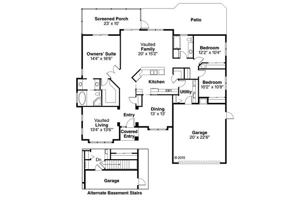 Mediterranean Floor Plan - Main Floor Plan Plan #124-248