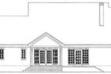 Colonial Exterior - Rear Elevation Plan #406-256