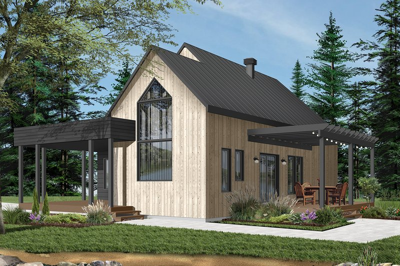 Modern Exterior - Front Elevation Plan #23-2676