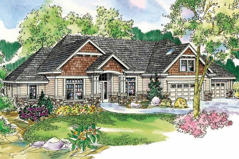 Craftsman Exterior - Front Elevation Plan #124-732
