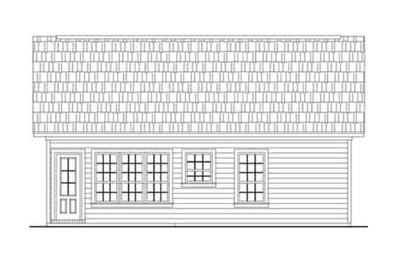 Cottage Style House Plan - 2 Beds 2 Baths 1000 Sq/Ft Plan #21-168 Exterior - Rear Elevation