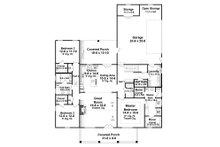 Farmhouse Floor Plan - Main Floor Plan Plan #21-443