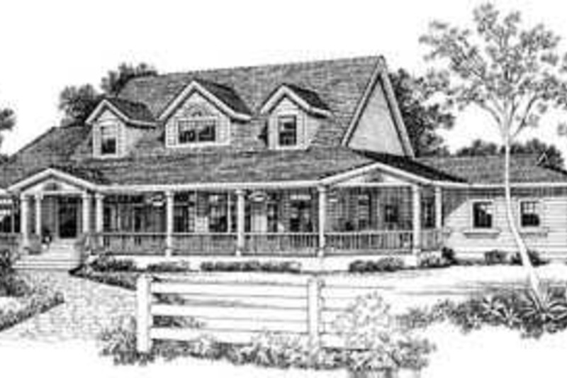 Country Exterior - Front Elevation Plan #72-183 - Houseplans.com