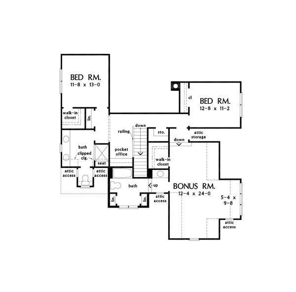 Architectural House Design - Cottage Floor Plan - Upper Floor Plan #929-1121