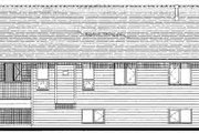 Traditional Style House Plan - 3 Beds 2 Baths 1191 Sq/Ft Plan #18-323 Exterior - Rear Elevation