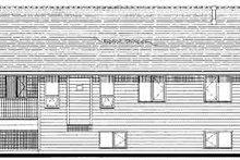 House Blueprint - Traditional Exterior - Rear Elevation Plan #18-323