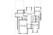 European Floor Plan - Upper Floor Plan Plan #413-104