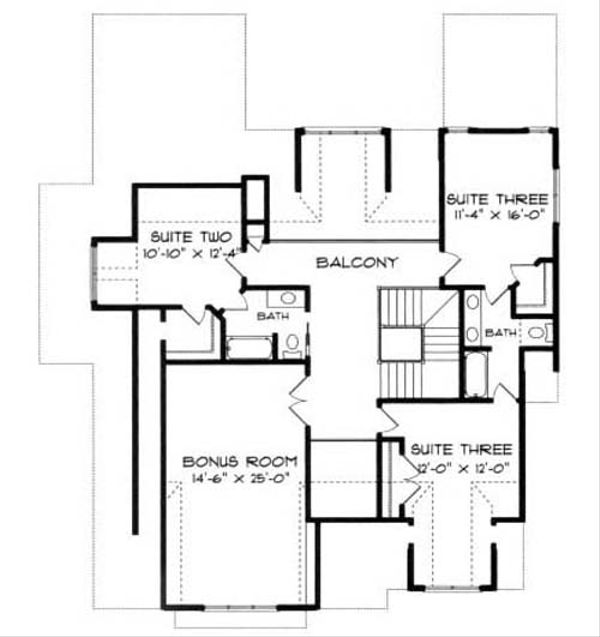 European Floor Plan - Upper Floor Plan #413-104