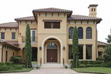 Mediterranean Exterior - Front Elevation Plan #1019-8