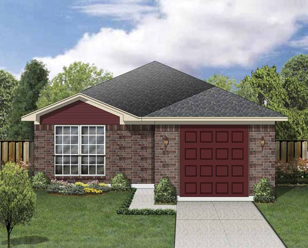 Traditional style house plan 2 beds 2 baths 973 sq ft for Weinmaster house plans