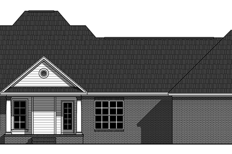 Ranch Exterior - Rear Elevation Plan #21-437 - Houseplans.com