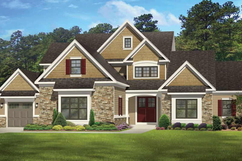 Colonial Exterior - Front Elevation Plan #1010-112 - Houseplans.com