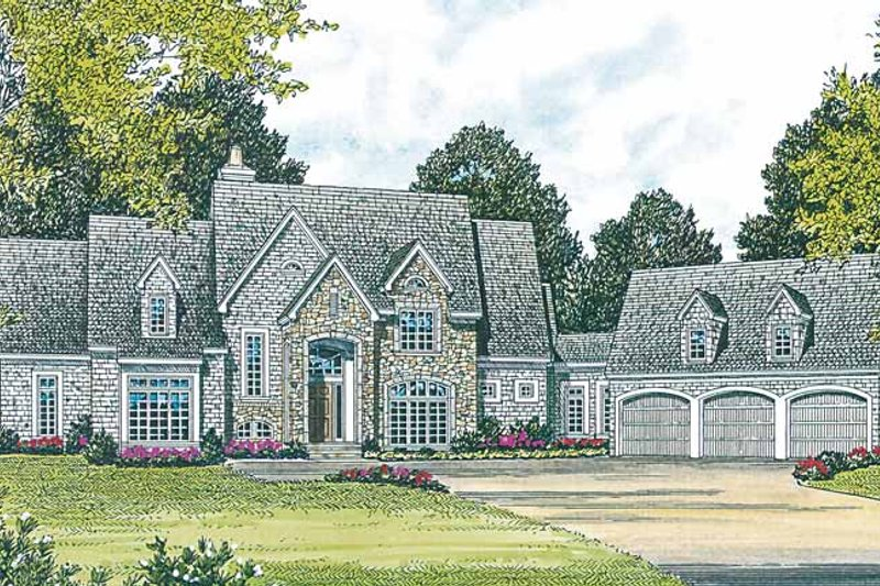 Architectural House Design - Country Exterior - Front Elevation Plan #453-237