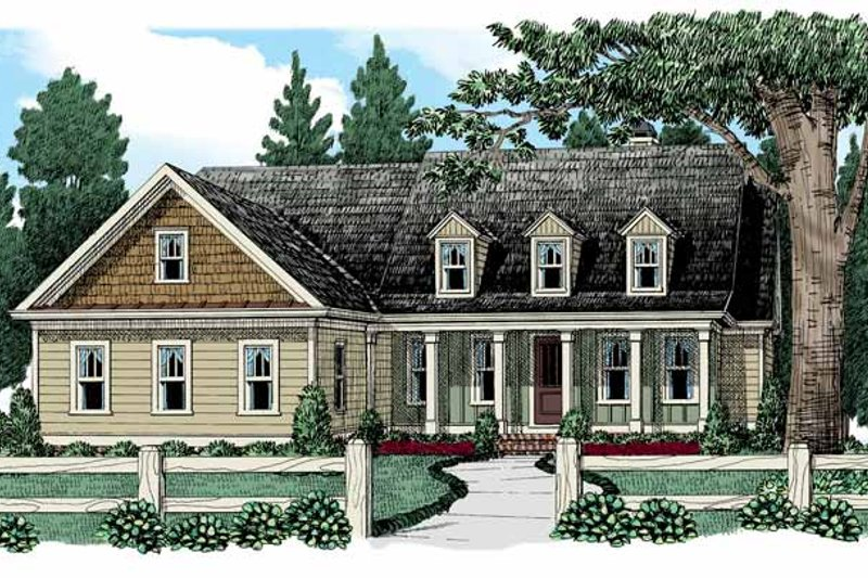 Home Plan - Colonial Exterior - Front Elevation Plan #927-943