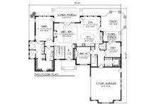 Ranch Floor Plan - Main Floor Plan Plan #70-1054