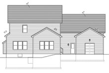 Home Plan - Colonial Exterior - Rear Elevation Plan #1010-82